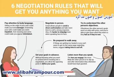 ۶ قانون در مذاکره